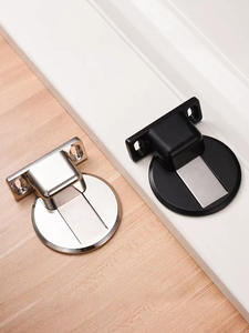 Door-Holders Magnetic-Door-Stopper Nail-Free Stainless-Steel Floor-Mounted Hidden AOBT