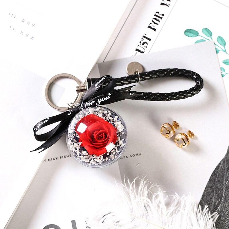 Вечная эксклюзивная Роза в стеклянном куполе Красавица и Чудовище Роза романтические подарки на день Святого Валентина подарок на Рождество подарки на праздник - Цвет: KC01-A