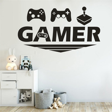 Gamer Wall Sticker Home Wall Sticker Decal Bedroom Vinyl Art Mural Gaming poster Decor door Sticker kids room decoration