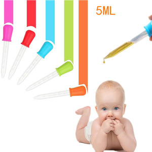 3pcs Silicone Pipette Liquid Food Dropper Plastic Baby Feeding Medicine Dropper Spoon Burette Infant Utensils Baby Dropper Medic