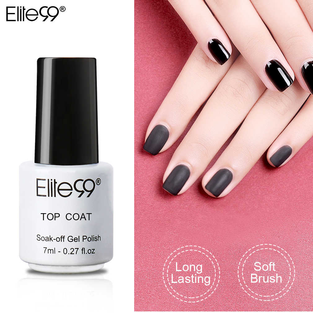 Elite99-esmalte de Gel semipermanente, barniz abrillantador de Gel UV de efecto mate para decoración de uñas, 7ml
