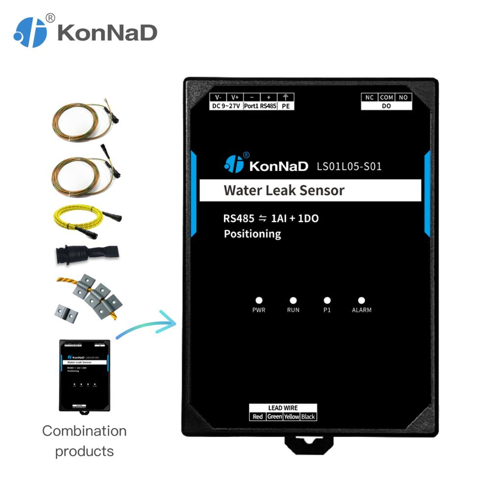 Positioning Water Leak Sensor 1-chanenl AI DO To RS485 Form C Relay 16-bit Resolution KonNaD