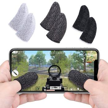 1 Pair Beehive Sleep-proof Sweat-proof Professional Touch Screen Thumbs Finger Sleeve for Pubg Mobile Phone Game Gaming Gloves 1