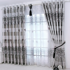 Image 1 - 1 pc New Curtains for Windows Drapes European Modern Elegant Noble Printing Shade Curtain For Living Room Bedroom
