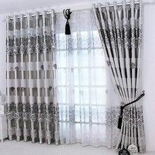 1 pc 新窓ドレープヨーロッパモダンでエレガントな高貴な印刷シェードカーテンリビングルームのベッドルーム