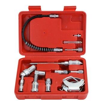 11PCS Grease Apparaat Adapter Set Lubing Slangfitting Accessoires Hoge Nauwkeurigheid Gehumaniseerd Ontwerp auto Reparatie Tool|Handgereedschapssets|   -