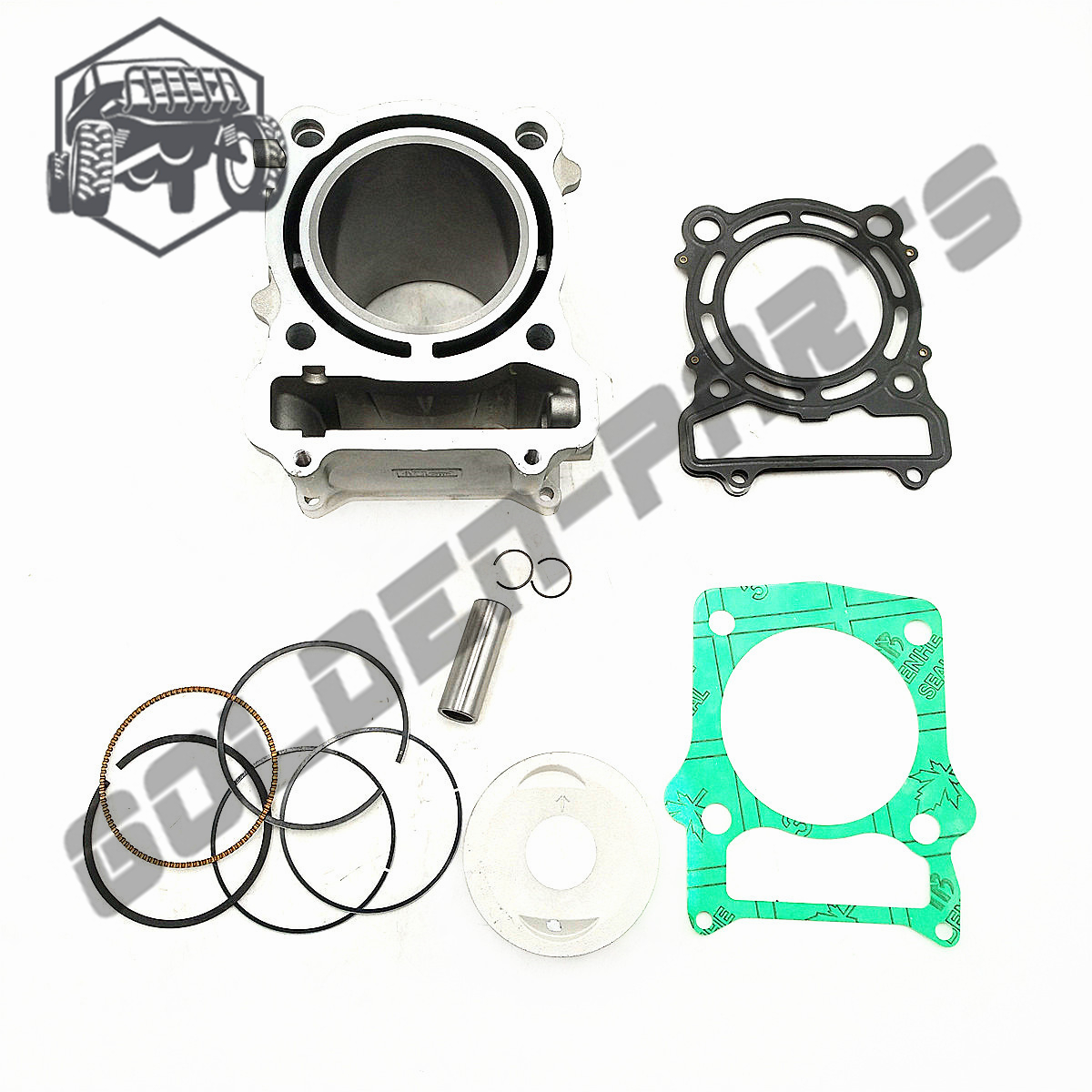 KUOQIAN HISUN Parts HS500cc HS 500 Cylinder Assy Piston Kit Rings For Hisun 500cc HS500 ATV UTV Parts High Quality