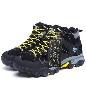 Image 4 - Junjarm novos homens botas de inverno com pele 2019 quente botas de neve homens botas de inverno sapatos de trabalho calçados masculinos moda borracha tornozelo sapatos