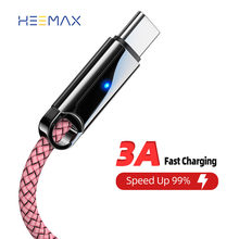 USB Type C 3A Fast USB Charging Cable for Samsung S10 S9 Type-C Charger Data Cable for Redmi note 9 pro USB-C Cabo Wire