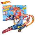 Hot Wheels Città Elettrico Motorizzato Serie Vulcano di Fuga A Tema Pista Sfida Pista giocattoli per bambini FTD61 set auto ragazzo regalo