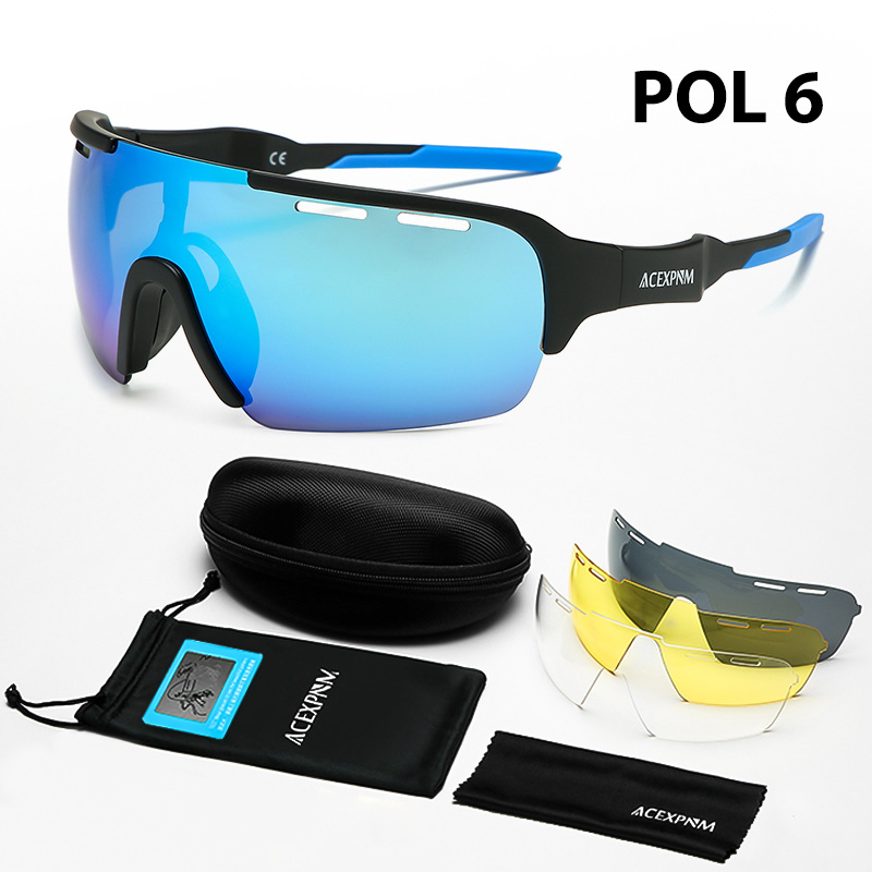 2019 New Cycling Glasses Eyewear 3 Lens Polarized Sunglasses Coated Mirror UV400 Peter Bike Bicycle Goggles For Mountain Bike