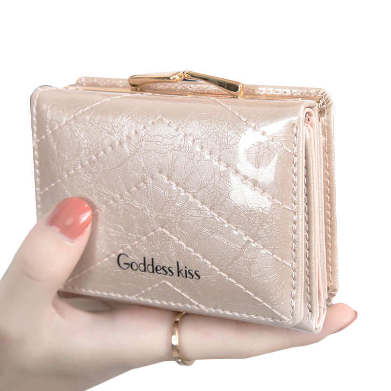 NEW Womens Small Wallets 2019 Fashion Luxury Designer Ladies Money Purses Short Trifold Female Wallet With Coin Pocket