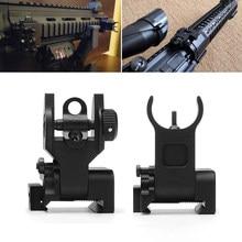 Eua premium tactical flip up mil specs mira de ferro dianteiro + traseiro vista montagens conjunto