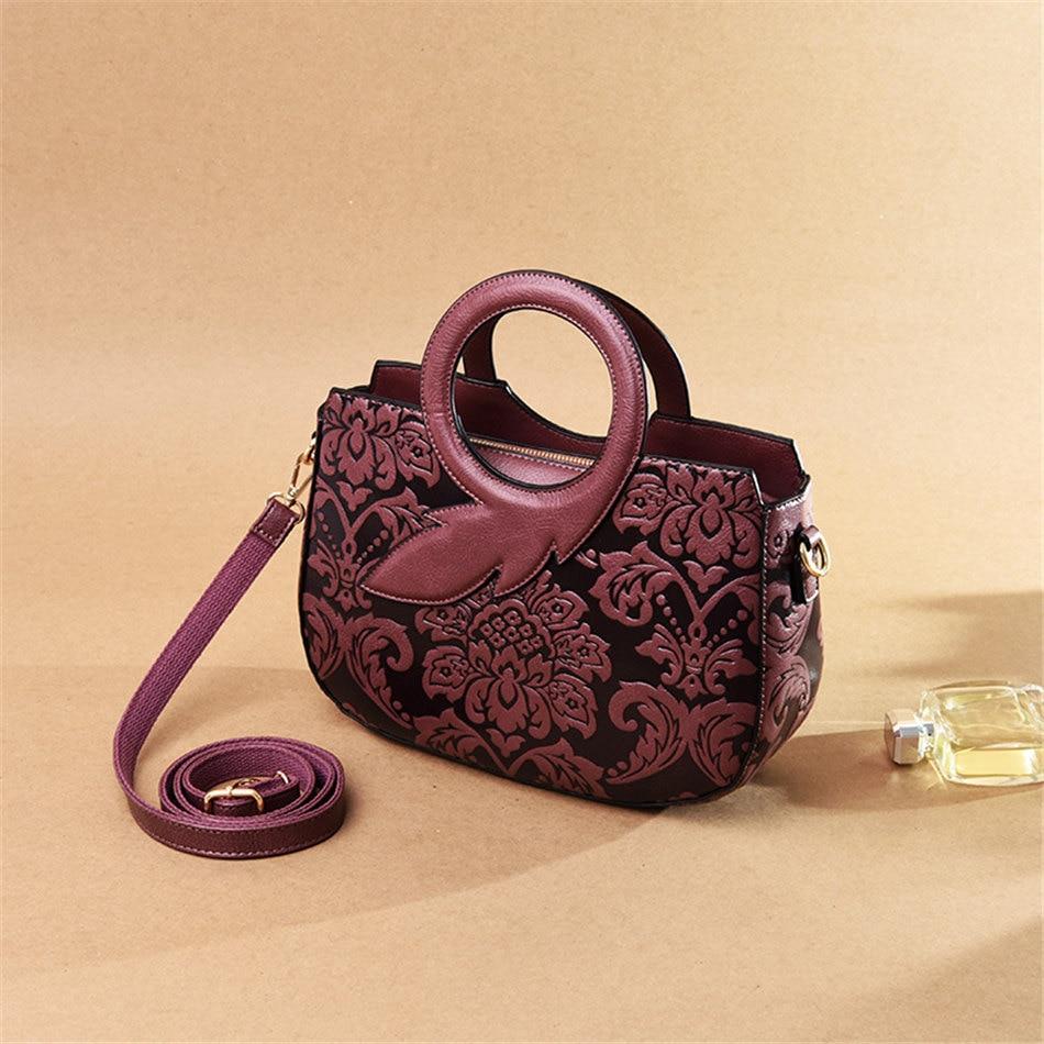 Nova alta qualidade bolsas de couro de