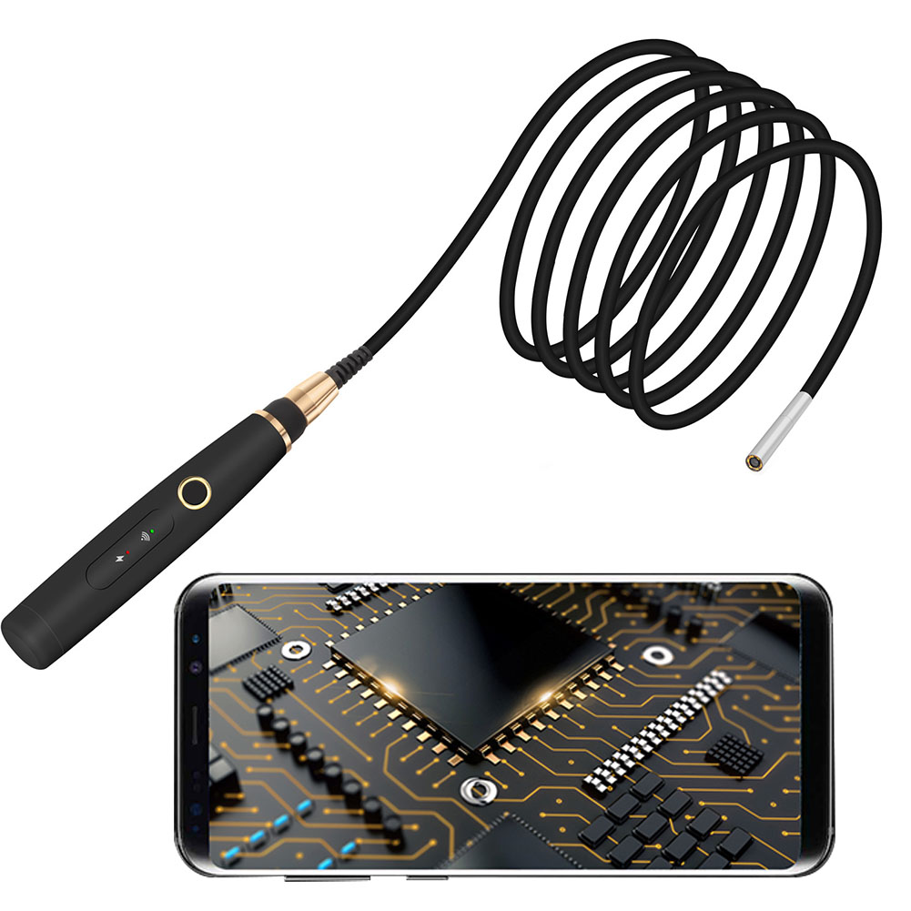 3.9mm מיני עמיד למים כף יד WIFI אנדוסקופ אלחוטי LED תאורת HD 720P גמיש עמיד פיקוח המצלמה Boroscope רכב