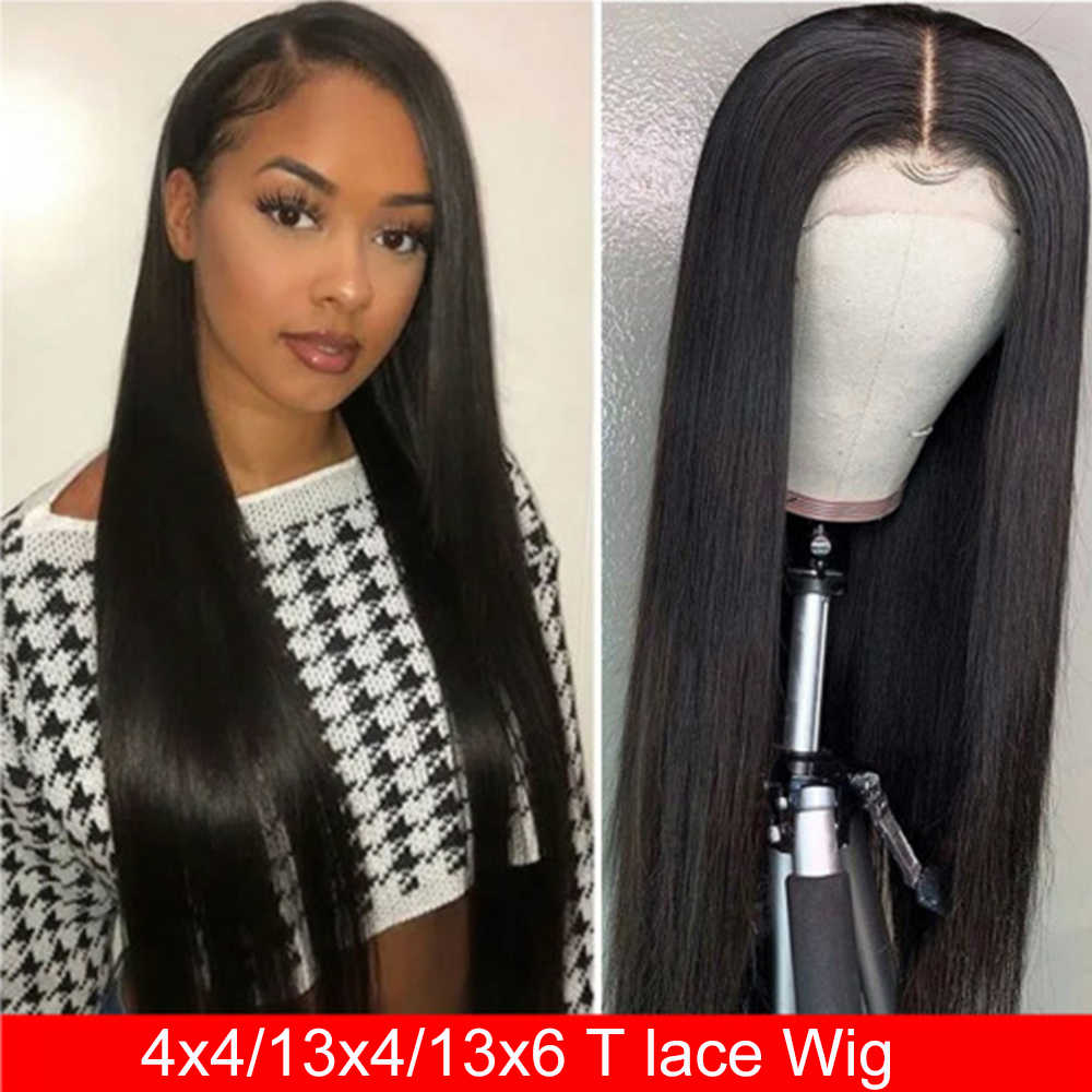 Perruque Lace Frontal Wig 360 naturelle-Maxine | Cheveux lisses, 30 pouces, 4x4, perruque Lace Front Wig, perruque Lace Frontal Wig, 150%