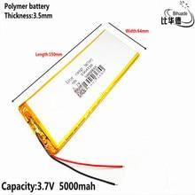 Литровая энергетическая батарея 3,7 V, 5000mAH 3564150 полимерная литий-ионная/литий-ионная батарея для планшетных ПК 7 дюймов 8 дюймов 9 дюймов GPS, mp3, mp4