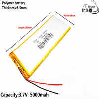 Litrowa bateria energetyczna 3.7 V, 5000mAH 3564150 polimerowy akumulator litowo-jonowy/litowo-jonowy do tabletu 7 cali 8 cali 9 cali GPS, mp3, mp4