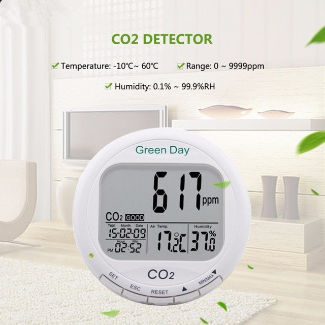 AZ7788 Indoor air quality monitor CO2 detector tester meter gas detector Thermometer hygrometer humity CO2 monitor gas Analyzer