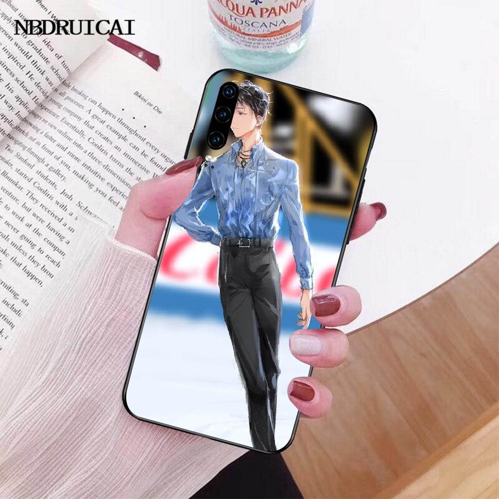NBDRUICAI Yuzuru Hanyu Copertura Della Cassa Del Telefono di TPU nero Scafo per Huawei Honor 20 10 9 8 8x 8c 9x 7c 7a Lite vista