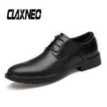 CLAXNEO Man Dress Shoes Genuine Leather Autumn Formal Shoe Male Oxfords Office Bussiness Footwear Derby Wedding Shoe s kids bing bunny cartoon print hoodies coats for boys girls rabbit long sleeves hoody sweatshirts for children costumes