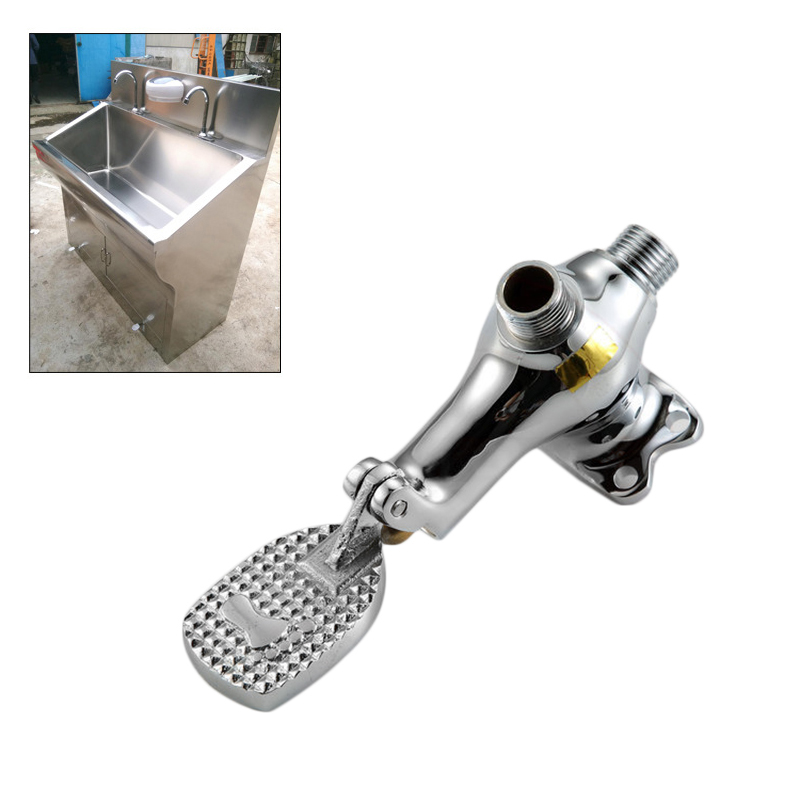 Durable Faucet Floor Foot Pedal Valve Control SwitchTap Basin Single Cold Water