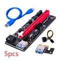 5/10pcs PCI-E pcie Riser 009 Express 1X 4x 8x 16x Extender PCI E USB Riser 009S Dual 6Pin Adapter Card SATA 15pin for BTC Miner