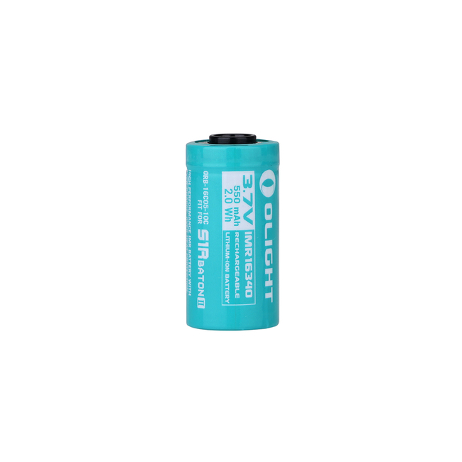 OLIGHT ORB-16C05-10C 550mAh IMR16340 Battery For S1R Baton II