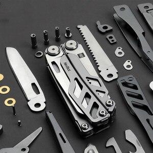 Image 5 - Huohou cuchillo plegable multifunción Original, abrebotellas, destornillador/alicates, cuchillos del ejército de acero inoxidable, caza al aire libre