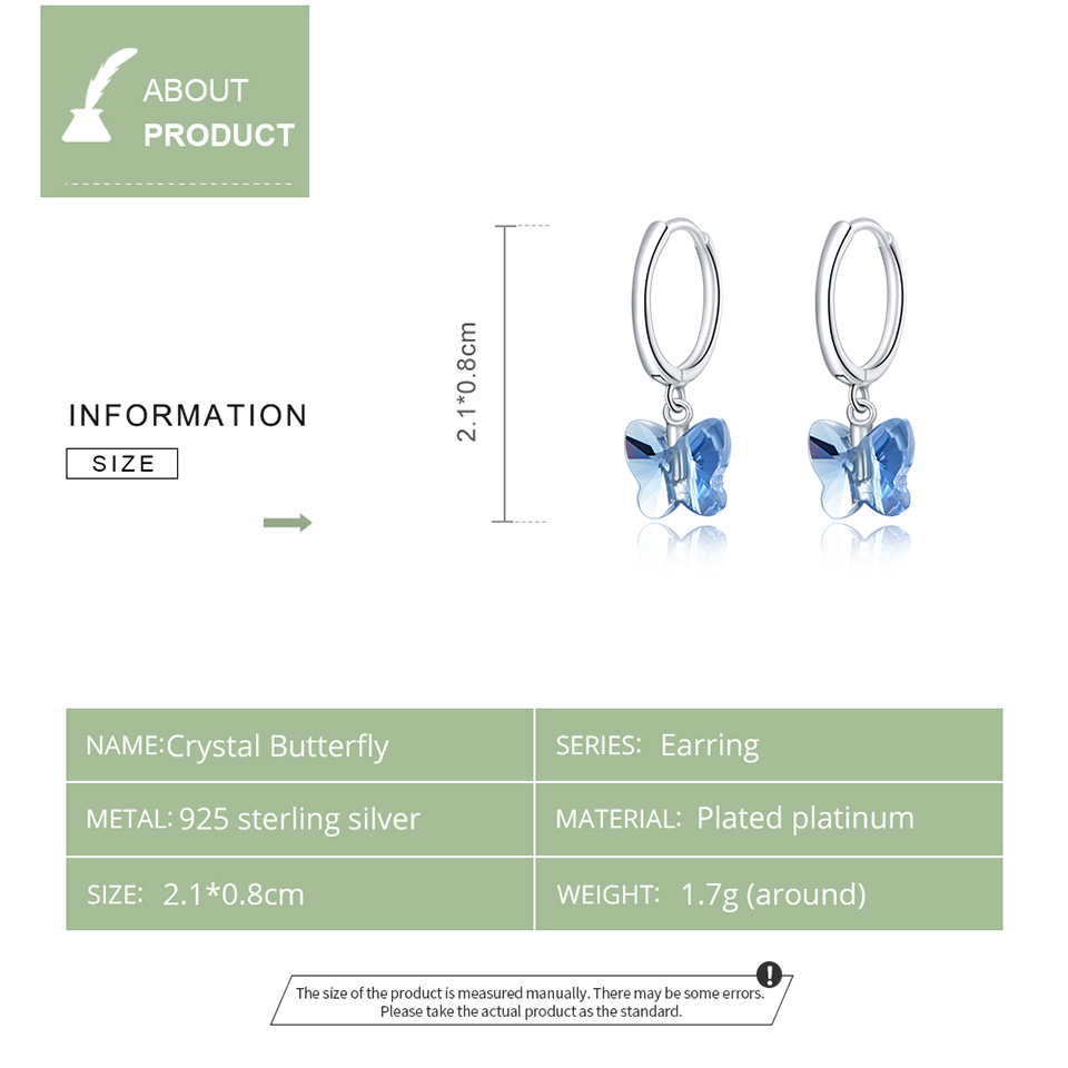 Bamoer Genuine 925 Sterling Silver Crystal Butterfly Stud Earrings For Women Silver Jewelry 2020 Brincos Wedding Earring Sce959 Best Discount 67cb66 Cicig