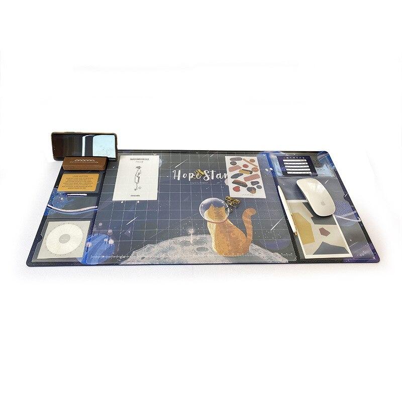 Large Waterproof Pu Mouse Pad Student Writing Pad Office Computer Desk Mat Laptop Cushion Desk Organizer with Calendar 5