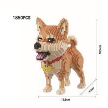 hot LegoINGlys creators Funny  Lovely Pets animal diy Micro Diamond Building Blocks Dog Maker Nano brick model bricks toys gift