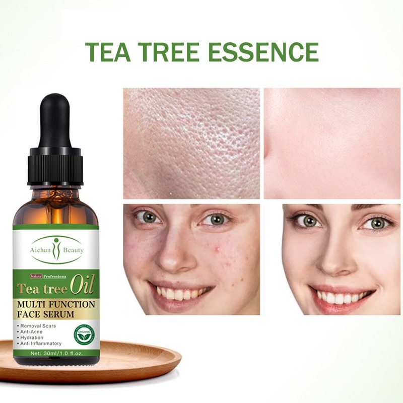 100% Natural Tea Tree Essential Oil Anti-wrinkle Extract Acne Pores Removal Scars Marks Treatment Massage Oil for Any Skin Care
