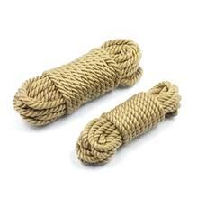 BDSM – jouets sexuels en corde de coton, menottes, pied, cheville, chaîne, cordon de guidage, produits pour adultes, flirt pour hommes et femmes, jeu de Cosplay, 18 +