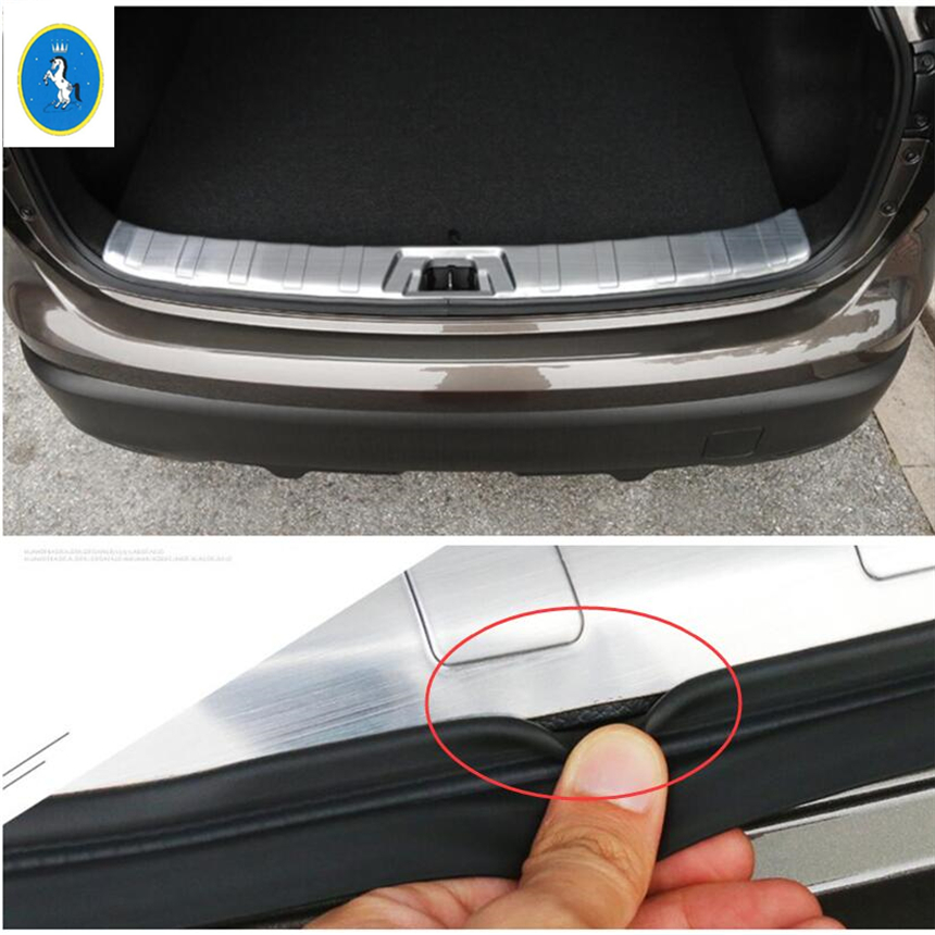 Rear Bumper Protector Sill Plate for 2014-2016 Subaru Forester Stainless door