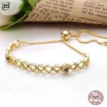Authentic 925 Sterling Silver Shine Original Honeybee Europe Bracelet Fit Women Bead Charm Bangle Gift Fine Jewelry цена 2017
