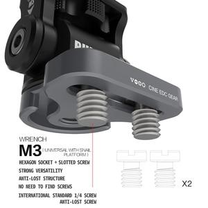 Image 3 - Регулируемая амортизирующая головка M3, гаечный ключ, регулируемая шаровая Головка для камеры DSLR, HDMI, провод держатель, зажим для камеры, Кабель адаптер