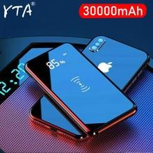 QI Беспроводное зарядное устройство 30000 мАч Power Bank зарядное устройство для iPhone 11 XS Max Samsung Power bank (зарядное устройство Dual USB Автомобильное заряд...