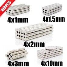Powerful Magnets Ndfeb Permanent Small Mini Super-Strong 100pcs Round N35 4x3 4x2 4x10-Mm