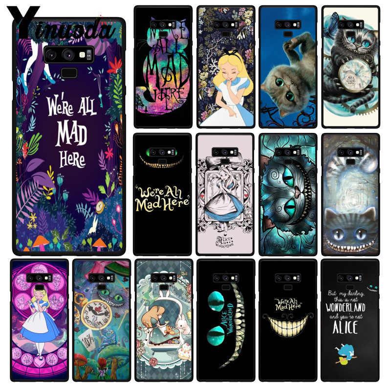 Yinuoda Alice nel Paese Delle Meraviglie Cassa Del Telefono Per Samsung Galaxy A50 S10 S9 Più Note9 8 Note7 5 4 3