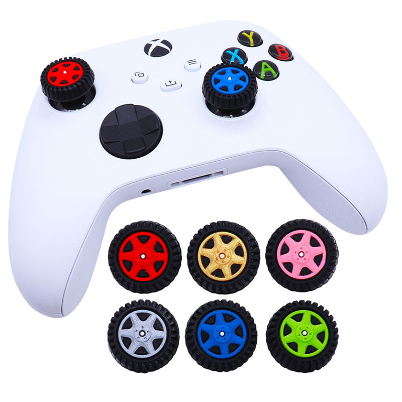 Car Wheel Tyre lThumb Stick Grip Cap Thumbstick Joystick Cover Case For Sony PS5 PS4 PS3 Slim Xbox 360 Series X/S Switch Pro