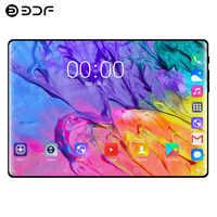 10.1 pouces tablette 2.5D verre trempé 4G appel téléphonique Android 9.0 dix cœurs 8GB RAM 128GB ROM 8.0MP IPS cartes Wi-Fi tablettes PC