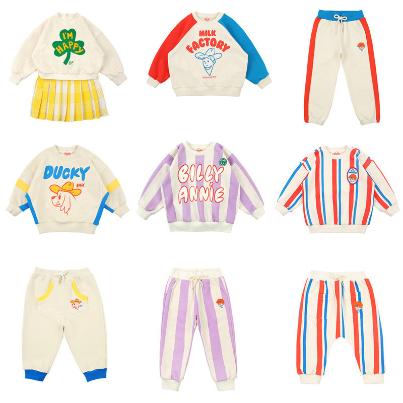 Kids Sweaters 2020 Bebe Brand New Spring Boys Girls Cartoon Print Sweatshirts Baby Children Cotton Outwear Clothes Tops
