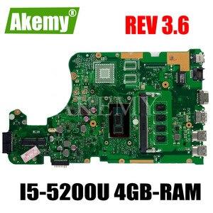 X555LD REV 3.6 X555LAB Motherboard For Asus X555LJ X555LB X555LA X555L Laptop Motherboard Mainboard Test Ok I5-5200U 4GB-RAM GM