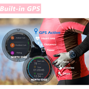 Image 5 - GPS Smart Watch Mens Digital Watch Heart Rate Altitude Barometer Compass Smartwatch Men Running Sport Fitness Tracker NORTH EDGE