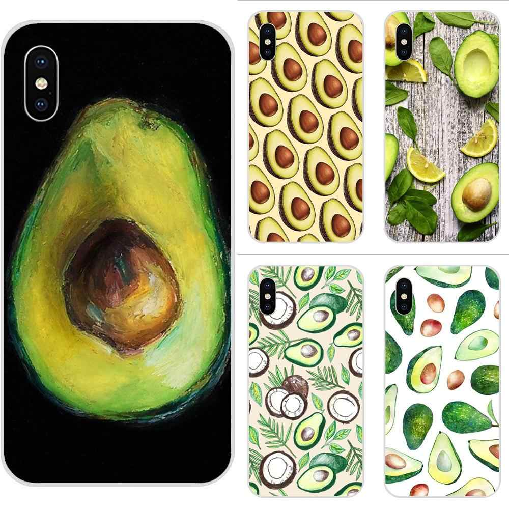 Avocado Food Diy Colorful Soft TPU Cell Case For Samsung Galaxy Note 5 8 9 S3 S4 S5 S6 S7 S8 S9 S10 5G mini Edge Plus Lite