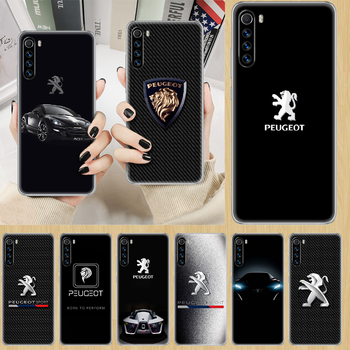 Car Peugeots logo Phone Case cover For XIAOMI Redmi Note 3 4 4X 5 6 7 8 9 Pro T S max transparent cell cover painting waterproof image