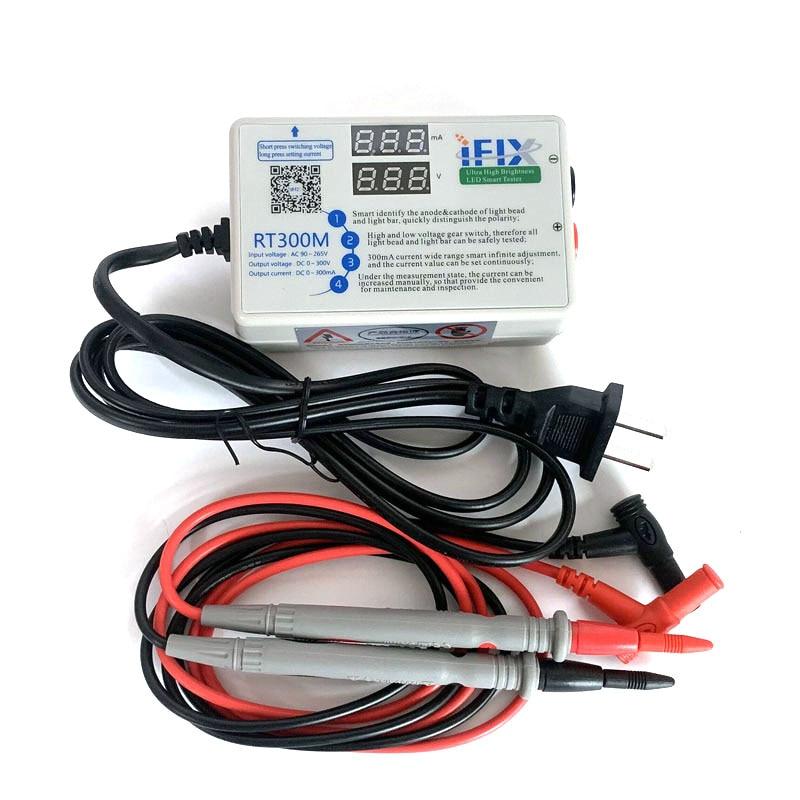 RT300M Upgraded Version V2.0 90W 0-300V Smart LED Backlight Tester LCD TV LED Backlight Strip Lamp Test Tool With Tester Pens