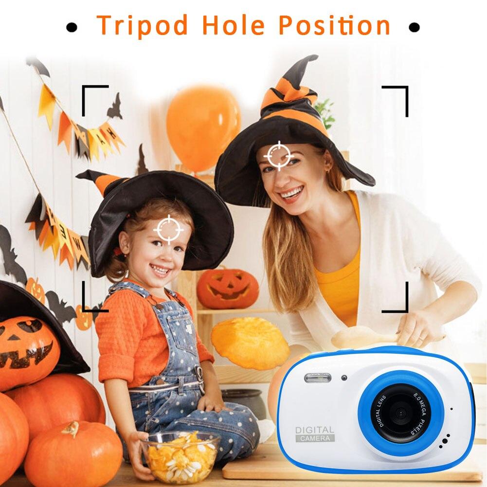 Waterproof Camcorder 6X Zoom Lightweight Toy Kids Gifts Mini Video Recorder Birthday Portable 2 Inch HD Screen Digital Camera