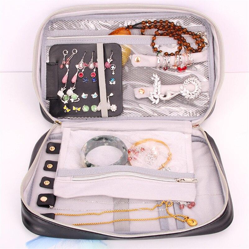 Mode voyage accessoires Portable ornement collier organisateur pochette sac femmes boucles d'oreilles bijoux étui sac